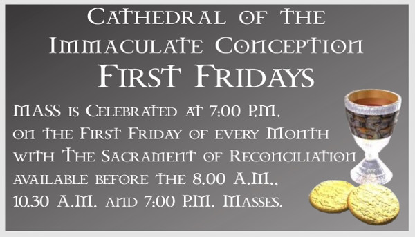 First Friday Notice