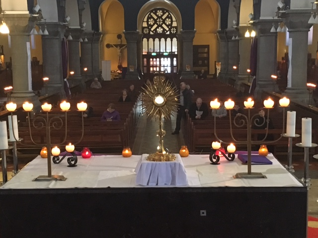 24 Hours for the Lord - view from the altar